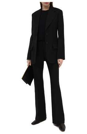 Женский пуловер из шерсти и вискозы STELLA MCCARTNEY черного цвета, арт. 602889/S2240 | Фото 2