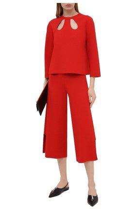 Женские брюки из вискозы STELLA MCCARTNEY красного цвета, арт. 602880/S2076 | Фото 2
