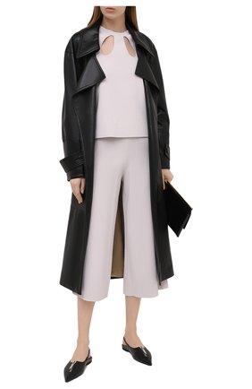 Женские брюки из вискозы STELLA MCCARTNEY светло-серого цвета, арт. 602880/S2076 | Фото 2