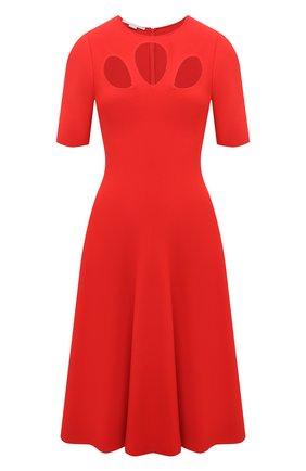Женское платье из вискозы STELLA MCCARTNEY красного цвета, арт. 602877/S2076 | Фото 1