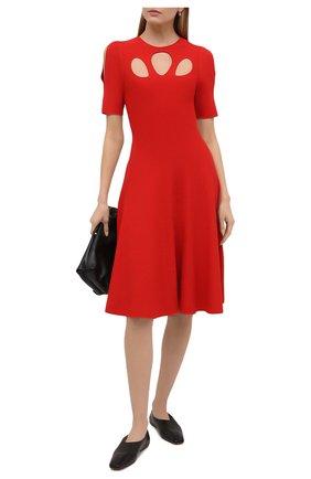 Женское платье из вискозы STELLA MCCARTNEY красного цвета, арт. 602877/S2076 | Фото 2