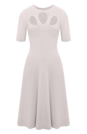 Женское платье из вискозы STELLA MCCARTNEY светло-серого цвета, арт. 602877/S2076 | Фото 1
