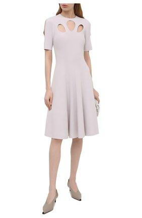 Женское платье из вискозы STELLA MCCARTNEY светло-серого цвета, арт. 602877/S2076 | Фото 2