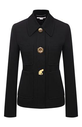 Женский шерстяной жакет STELLA MCCARTNEY черного цвета, арт. 602442/SPA28 | Фото 1