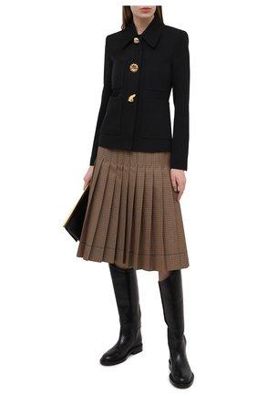 Женский шерстяной жакет STELLA MCCARTNEY черного цвета, арт. 602442/SPA28 | Фото 2