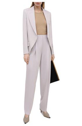 Женские шерстяные брюки STELLA MCCARTNEY светло-серого цвета, арт. 602439/SPA28 | Фото 2