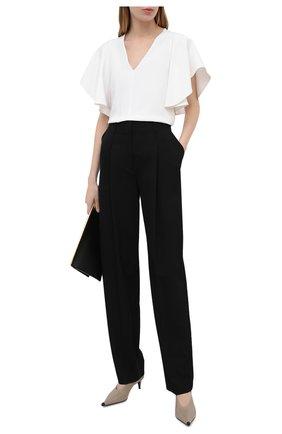 Женские шерстяные брюки STELLA MCCARTNEY черного цвета, арт. 602439/SPA28 | Фото 2