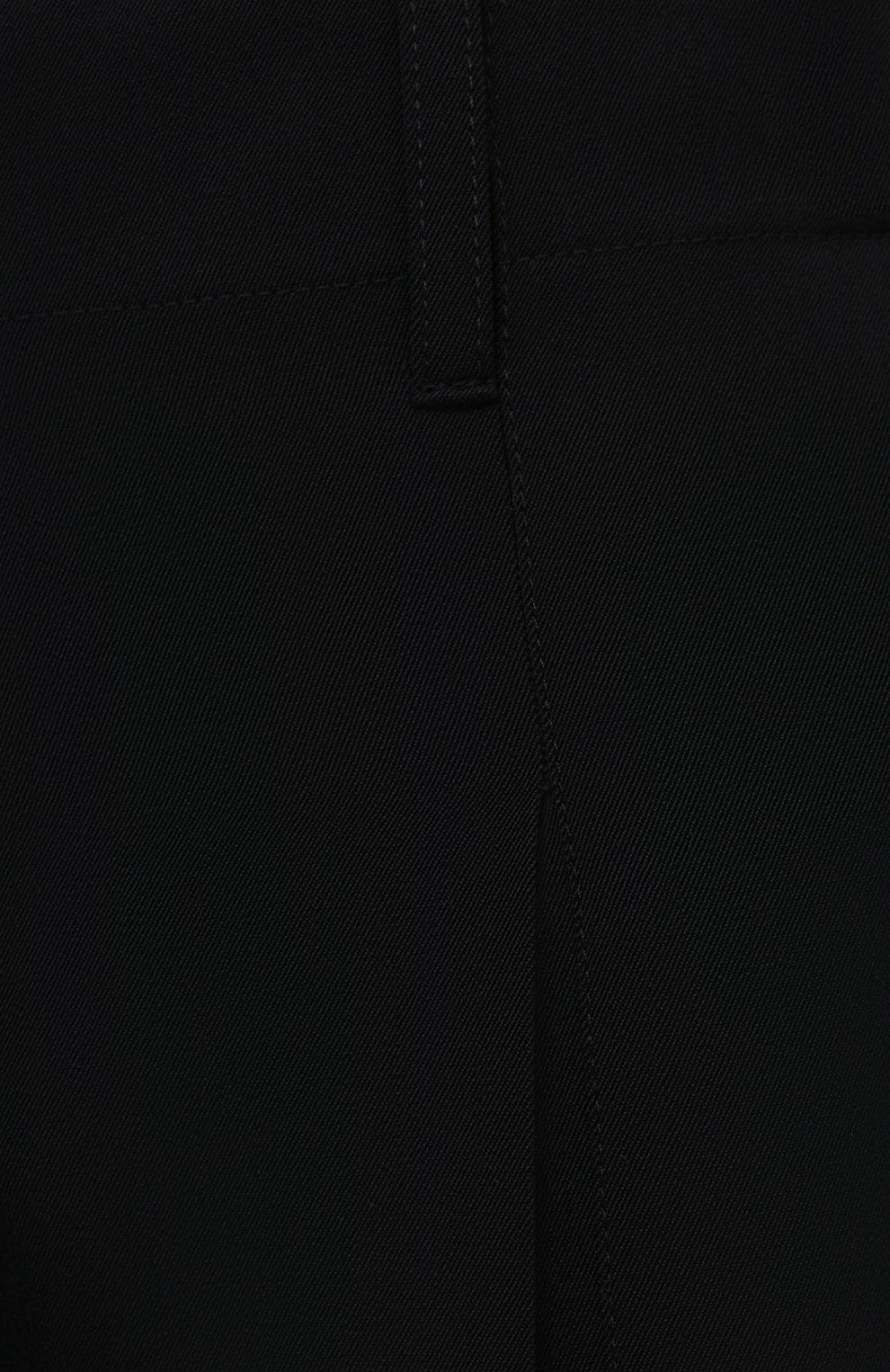 Женские шерстяные брюки STELLA MCCARTNEY черного цвета, арт. 602439/SPA28 | Фото 5 (Длина (брюки, джинсы): Удлиненные; Материал внешний: Шерсть; Женское Кросс-КТ: Брюки-одежда; Силуэт Ж (брюки и джинсы): Прямые; Стили: Кэжуэл)