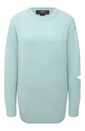 Женский кашемировый пуловер STELLA MCCARTNEY светло-голубого цвета, арт. 601883/S7231 | Фото 1