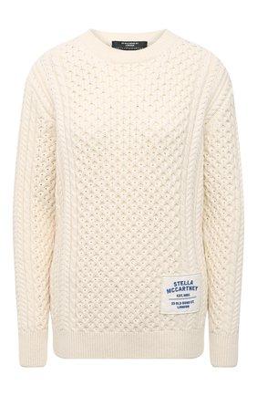 Женский хлопковый свитер STELLA MCCARTNEY бежевого цвета, арт. 583371/S7226 | Фото 1