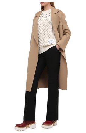 Женский хлопковый свитер STELLA MCCARTNEY бежевого цвета, арт. 583371/S7226 | Фото 2