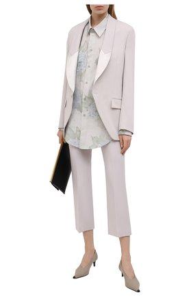Женские шерстяные брюки STELLA MCCARTNEY светло-серого цвета, арт. 529866/SPA28 | Фото 2