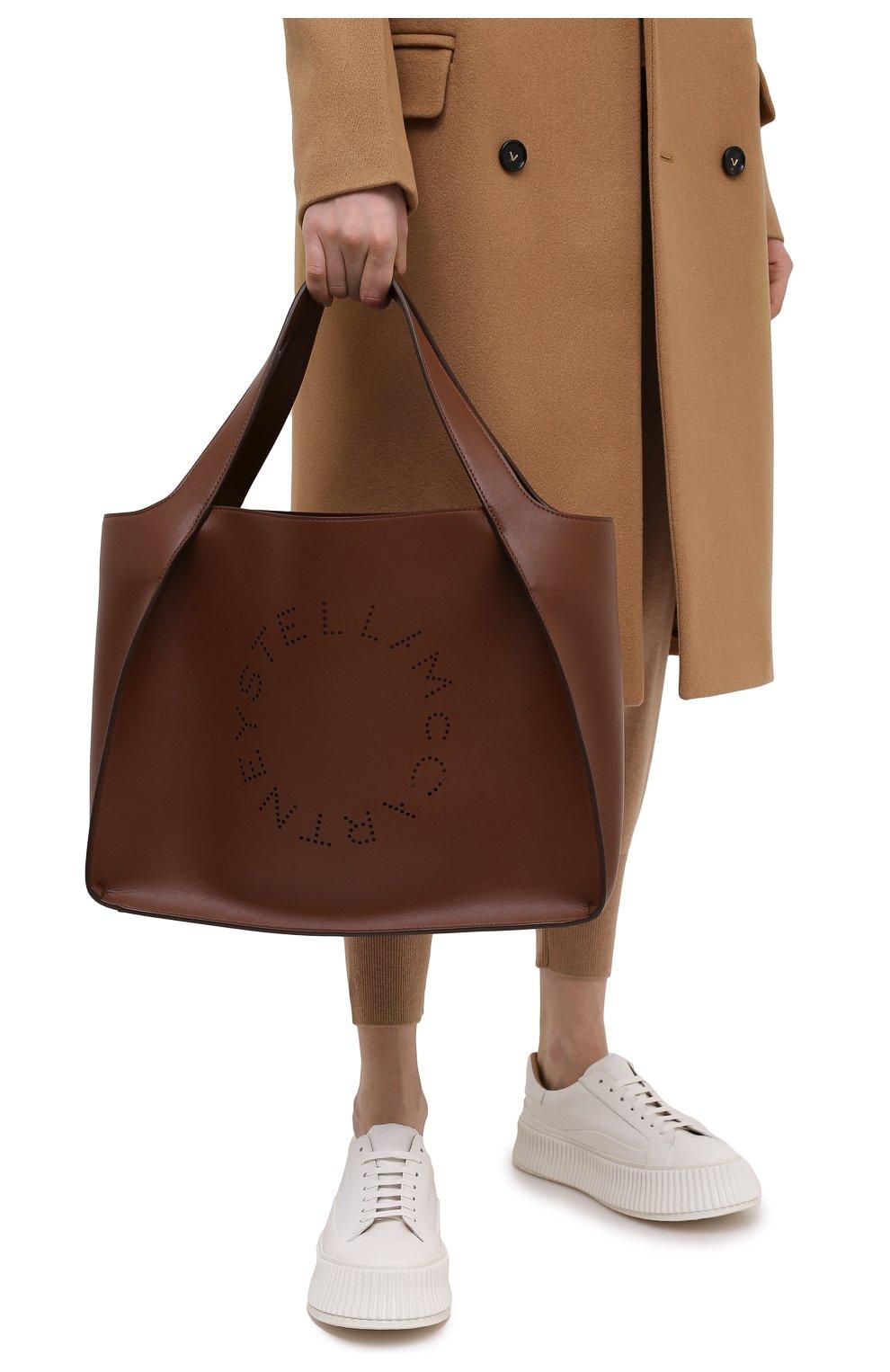 Женский сумка stella logo STELLA MCCARTNEY коричневого цвета, арт. 502793/W8542 | Фото 2