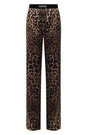 Женские шелковые брюки TOM FORD леопардового цвета, арт. PAW396-FAP150 | Фото 1