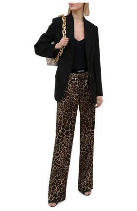 Женские шелковые брюки TOM FORD леопардового цвета, арт. PAW396-FAP150 | Фото 2