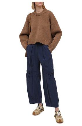 Женские брюки GIORGIO ARMANI синего цвета, арт. 1SHPP0GH/T02AW | Фото 2