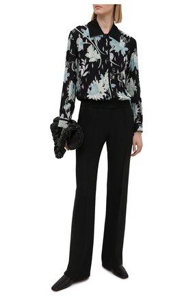 Женская шелковая рубашка GIORGIO ARMANI черного цвета, арт. 1SHCCZ15/TZ789 | Фото 2