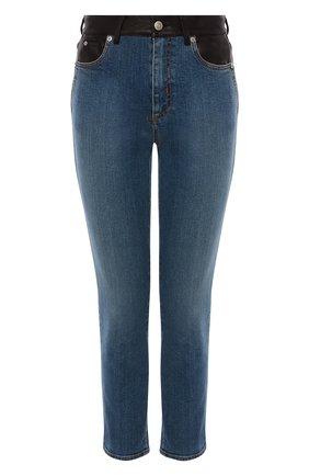 Женские джинсы ALEXANDER MCQUEEN синего цвета, арт. 653410/QZADD | Фото 1