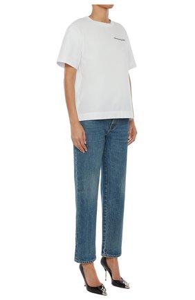Женская хлопковая футболка ALEXANDER MCQUEEN белого цвета, арт. 653731/QLAA6 | Фото 2