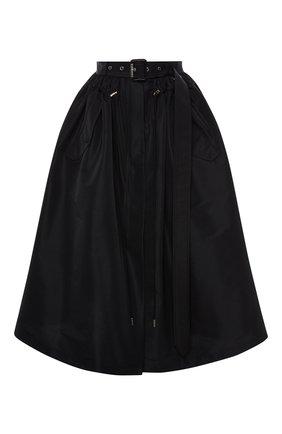 Женская юбка ALEXANDER MCQUEEN черного цвета, арт. 657001/QEACM | Фото 1