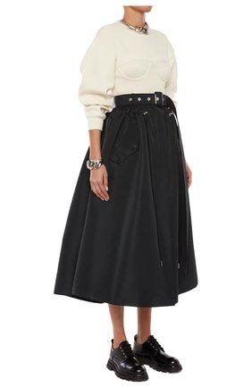 Женская юбка ALEXANDER MCQUEEN черного цвета, арт. 657001/QEACM | Фото 2