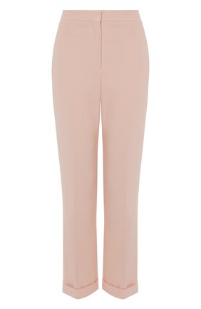 Женские брюки из вискозы ALEXANDER MCQUEEN светло-розового цвета, арт. 657148/QEAAA | Фото 1