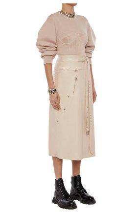 Женский шерстяной пуловер ALEXANDER MCQUEEN розового цвета, арт. 659949/Q1AUM | Фото 1