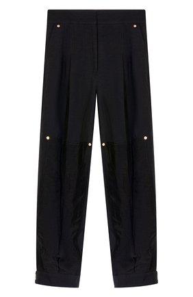 Женские брюки из вискозы и льна LOEWE черного цвета, арт. S540Y04W07/ | Фото 1