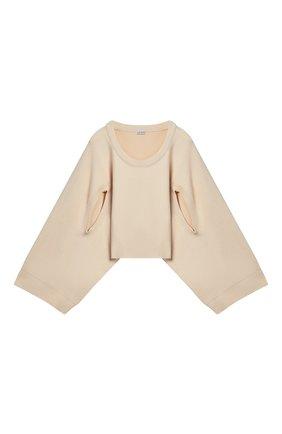 Женский хлопковый пуловер LOEWE бежевого цвета, арт. S540Y14K31/ | Фото 1