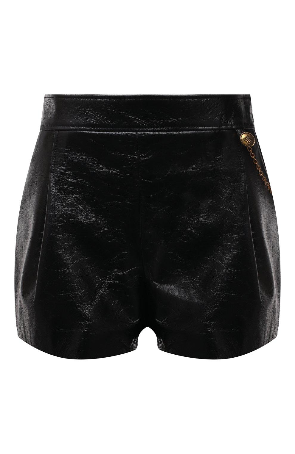 Женские кожаные шорты GIVENCHY черного цвета, арт. BW50NP60HU | Фото 1