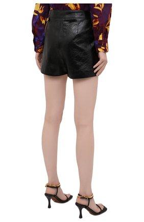 Женские кожаные шорты GIVENCHY черного цвета, арт. BW50NP60HU | Фото 4