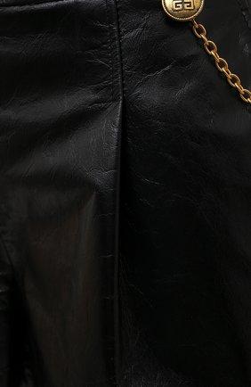 Женские кожаные шорты GIVENCHY черного цвета, арт. BW50NP60HU | Фото 5