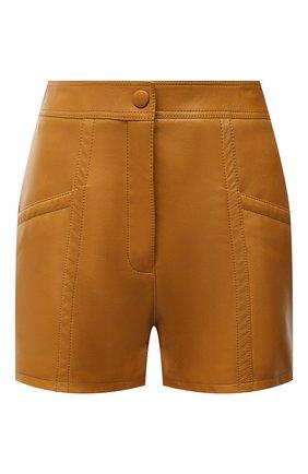 Женские кожаные шорты SAINT LAURENT светло-коричневого цвета, арт. 649125/YCDJ2 | Фото 1