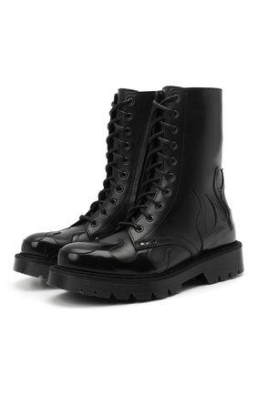 Женские кожаные ботинки VETEMENTS черного цвета, арт. UE51B0100F 2471/W | Фото 1