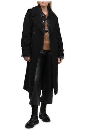 Женские кожаные ботинки VETEMENTS черного цвета, арт. UE51B0100F 2471/W | Фото 2
