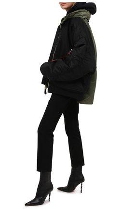 Женские кожаные ботильоны VETEMENTS черного цвета, арт. WE51B0300B 2471 | Фото 2