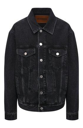 Женская джинсовая куртка VETEMENTS черного цвета, арт. UE51JA250B 2802/W | Фото 1