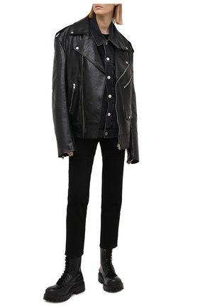 Женская джинсовая куртка VETEMENTS черного цвета, арт. UE51JA250B 2802/W | Фото 2