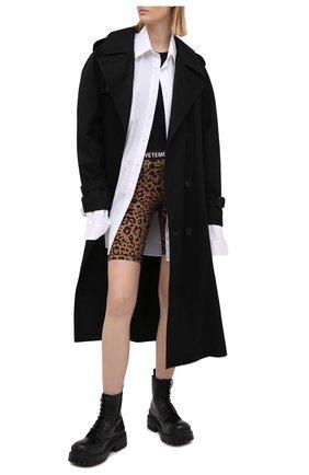 Женские шорты VETEMENTS леопардового цвета, арт. WE51PA600L 2605/LE0PARD | Фото 2
