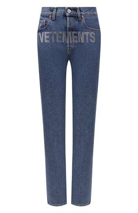 Женские джинсы VETEMENTS синего цвета, арт. WE51PA300B 2803/BLUE | Фото 1