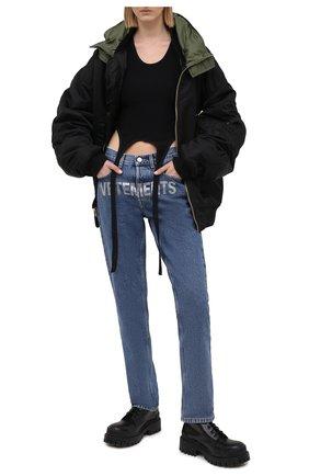 Женские джинсы VETEMENTS синего цвета, арт. WE51PA300B 2803/BLUE | Фото 2