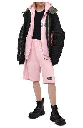 Женский хлопковая толстовка VETEMENTS розового цвета, арт. UE51TR870P 1605/W | Фото 2
