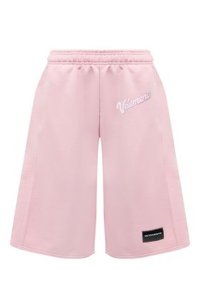 Женские хлопковые шорты VETEMENTS розового цвета, арт. UE51PA660P 1604/W | Фото 1