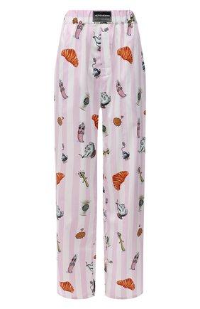 Женские хлопковые брюки VETEMENTS розового цвета, арт. UE51PA400P 2603/W | Фото 1