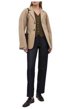 Женские джинсы DRIES VAN NOTEN синего цвета, арт. 211-12413-2376 | Фото 2