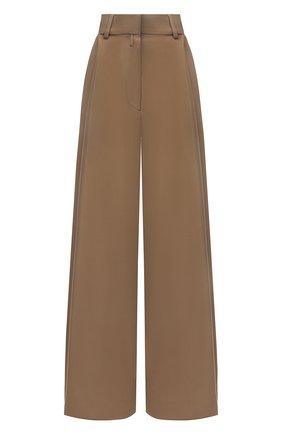 Женские брюки из шерсти и вискозы DRIES VAN NOTEN бежевого цвета, арт. 211-10945-2301 | Фото 1