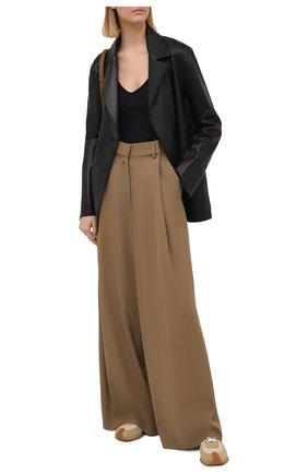 Женские брюки из шерсти и вискозы DRIES VAN NOTEN бежевого цвета, арт. 211-10945-2301 | Фото 2