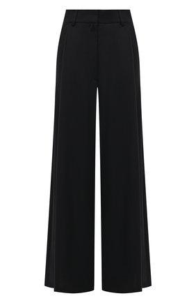Женские шерстяные брюки DRIES VAN NOTEN темно-синего цвета, арт. 211-10945-2155 | Фото 1