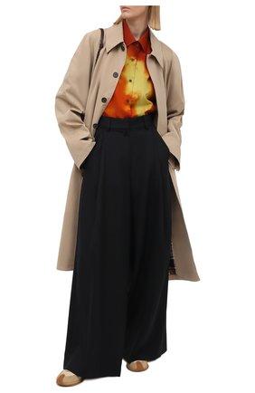Женские шерстяные брюки DRIES VAN NOTEN темно-синего цвета, арт. 211-10945-2155 | Фото 2