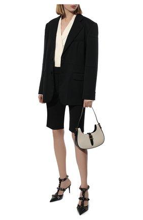 Женские шорты DRIES VAN NOTEN черного цвета, арт. 211-10907-2031 | Фото 2
